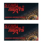 2 Adet Star Nights Bay Bayan Unisex Bitkisel Kahve
