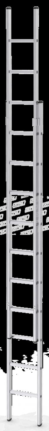 3,5x2 7 Metre Sürgülü İki Parçalı Alüminyum Sürgülü Merdiven