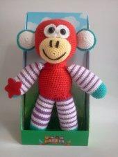 Damla Oyuncak Kırmızı Maymun,örgü Oyuncak,amigurumi