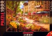 1000 Parça Puzzle Yapboz 48x66 3106 Paris Çiçek Pazarı