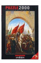 2000 Parça Puzzle Yapboz 3921 İstanbulun Fethi Fatih Sultan Mehme