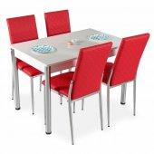 Evform Favorite 4 Kişilik Masa Sandalye Mutfak Masası Takımı Kı