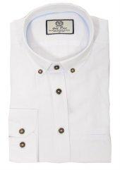 Golf Port Erkek Beyaz Modern Kesim Gömlek