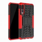 Edelfalke Huawei P20 Pro Kılıf Hibrit Silikon Kırmızı