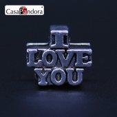 Charm,(I Love You) Gümüş, Charm Bileklik Uyumlu
