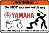 Motoruma Dokunma Yamaha Sticker