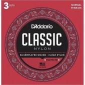 Daddario Ej27 3d Normal Tension Klasik Gitar Teli 3 Lü Set