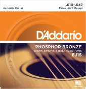 Daddario Ej15 Akustik Gitar Teli Phosphor Bronze (010 047)