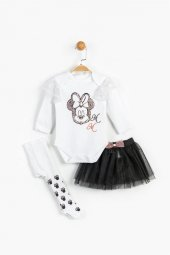 Minnie Mouse 3lü Takım Kız Bebek Giyim