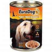 Eurodog Köpek Konservesi Kümes Hayvanlı 415gr (10)