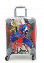 çocuk Valizi Spider Man Figürlü 4 Tekerlekli Çekçekli