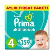 Prima Bebek Bezi 4 Beden Aylık Fırsat Paketi 159 Adet