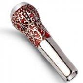 Gümüş İşlemeliözel Desenli Sipsi Yuvarlak Ağızlıklı