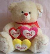 Seni Çok Seviyorum 3 Kalpli Pelüş Ayıcık 40 Cm...