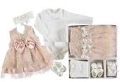 Kız Bebek Mevlütlük Elbise Yavruağzı
