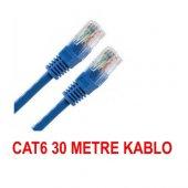 30 Metre Cat6 İnternet Ethernet Kablosu Fabrikasyon Rj45 Bst 2031