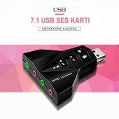 Usb Ses Kartı 7+1 Virtual 3d Kablosuz Win7 Wın8 Wın10 Usb Audıo Ç