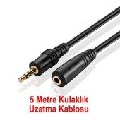 5m Metre Kulaklık Uzatma Kablosu Ses 3.5mm