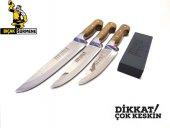 Mutfak Bıçak Seti 3&#039 Lü Lazoğlu Sürmene Bilezikli Orijinal El Yapımı