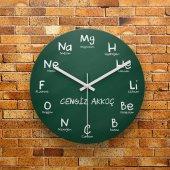 Fmc1415 Kimya Öğretmenine Hediye Mdf Ahşap Duvar Saati 39cm