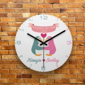 Fmc1392 Sevgiliye Özel Dünyanın En Tatlı Çifti Mdf Duvar Saati