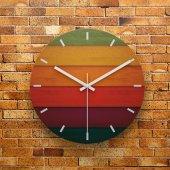 Fmc1115 Tasarımlı Mdf Ahşap Duvar Saati 39cm