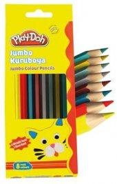 Play Doh 8 Li Jumbo Üçgen Kuru Boya 6 Metalik + 2 Fosforlu Renk