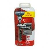 Gillette Mach3 Yedek Tıraş Bıçağı 5 Li + Tıraş Makinesi