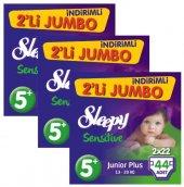 Sleepy Sensitive Bebek Bezi 5+ Beden İkili Jumbo 13 20 Kg 44 Lü 3lü Set