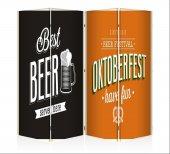 Beer Dört Kanat Kanvas Paravan