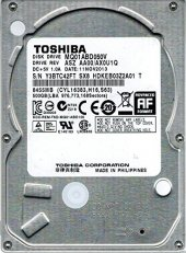 Toshiba 500 Gb 2,5 Notebook Harddisk Mq01abd050v