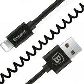 Baseus O Tipi İphone Araç Telefon Tutucu+kablo 0.8m Siyah Calox 0