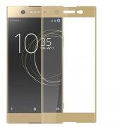 Sony Xperia Xa1 Ultra Kırılmaz Cam Gold Temperli Ekran Koruyucu K