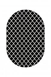 Passion 2166 120*180cm Siyah Oval Kaydırmaz Halı