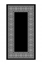 Passion Sn 009 80x200cm Siyah Kaydırmaz Halı
