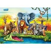 Puzzle Evi Hayvanlar Frame Puzzle 28 Parça