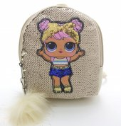 Kız Çocuk Mini Pullu Sırt Çantası