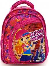 ı Love Music Pembe Renk Anaokulu Sırt Çantası