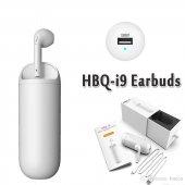Hbq İ9 Şarj Docklu Kablosuz Bluetooth Kulaklık Beyaz