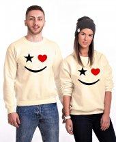 Tshirthane Yıldız Kalp Gülücük Sevgili Kombinleri Sweatshirt