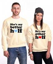 Tshirthane Better Other Half Sevgili Kombinleri Sweatshirt