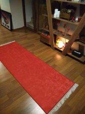 Elenist Düz Kırmızı Renk Salon Halısı Yumuşak Yüzey Kaymaz Taban