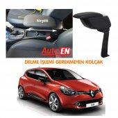 Autoen Renault Clio 4 Çelik Ayaklı Kolçak Kol Dayama Siyah Delme Yok