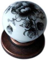 Porselen Eskitme Düğme Dolap Mobilya Kulpu G 387
