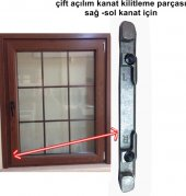 Pimapen Fıratpen Pvc Pencere Çift Açılım Alt Karşılık Parçası