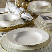 Kütahya Porselen Bone İron 24 Parça 6 Kişilik Fileli Yemek Takımı Kütahya Porselen