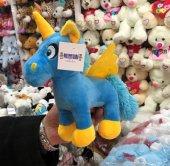 23cm Sevimli Mavi Pony At Peluş Oyuncak Kaliteli Peluşcu Baba