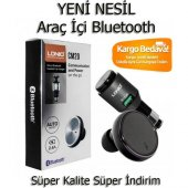 Ldnio Cm20 Bluetooth Araç Kiti , Araç Şarj Cihazı ,bluetooth Kulaklık Oto Aksesuar , Lg, Htc, İphone
