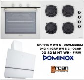Dominox 3lü Beyaz Ankastre Set + 2 Yıl Garanti + Ücretsiz Kurulum