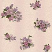 Truva 8603 4 Çiçek Motifli Duvar Kağıdı